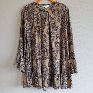 Umgee | Bohemian Bell Sleeve Tunic Blouse